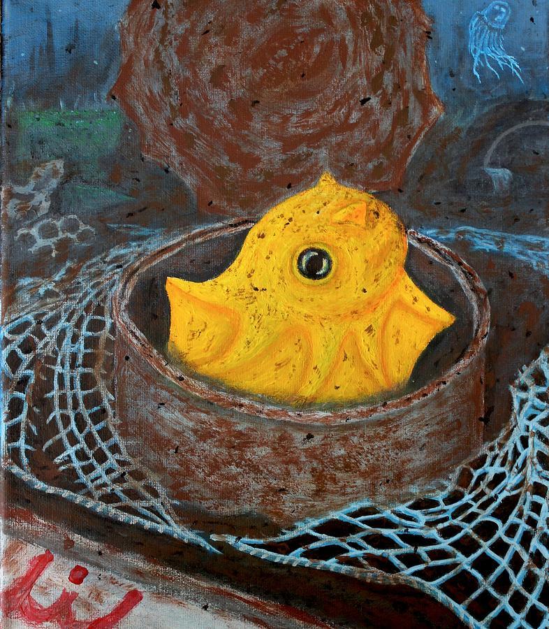 Ocean Painting - atTheBottom by J Finn