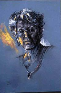 Portrait Painting - Attitude by Tina Siddiqui