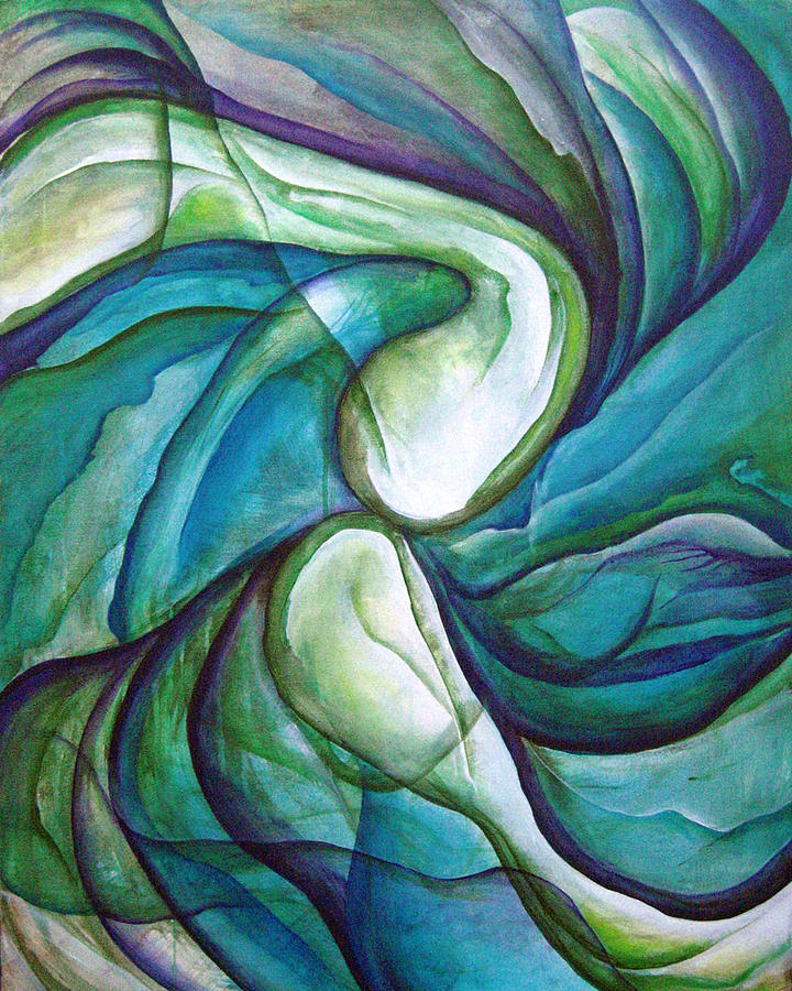 Green Painting - Attraction by Michelle Curiel