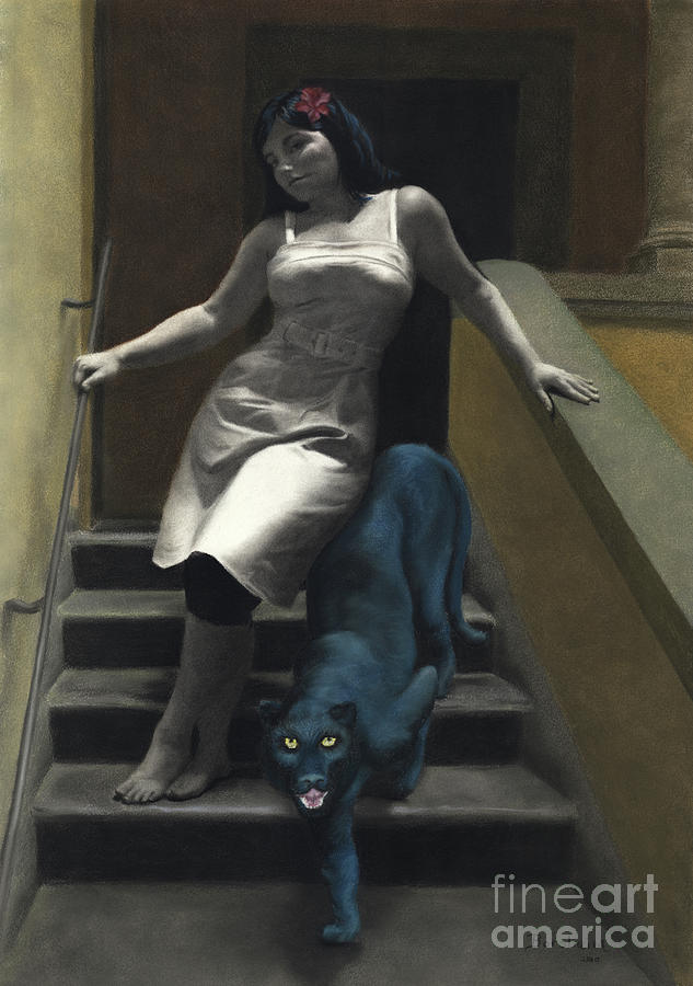 Love Pastel - Attraction The Stairs Of Love by Kelly Borsheim