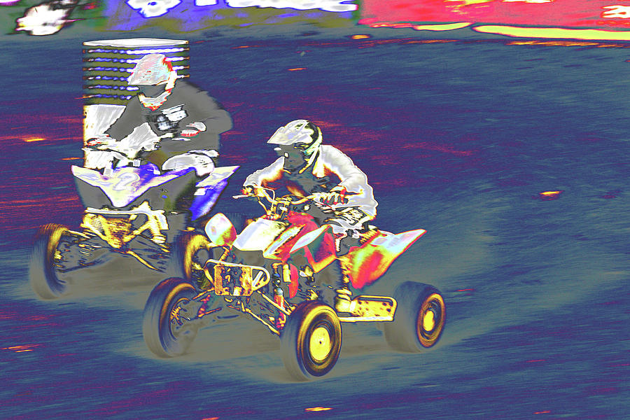 Sports Photograph - Atv Racing by Karol Livote