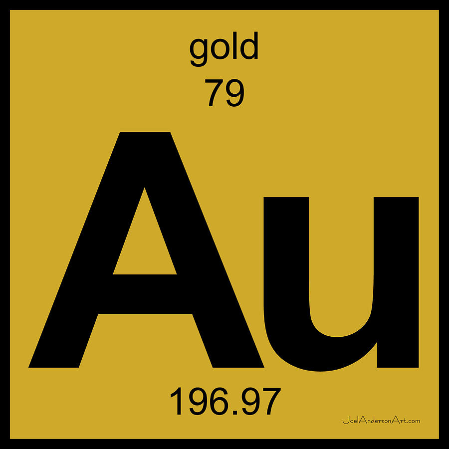 Gold symbol periodic table au gold periodic table of elements digital art by joel urtaz Images