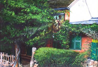 France Painting - Au Lapin Agile-the Agile Rabbit by Jeanie Chadwick