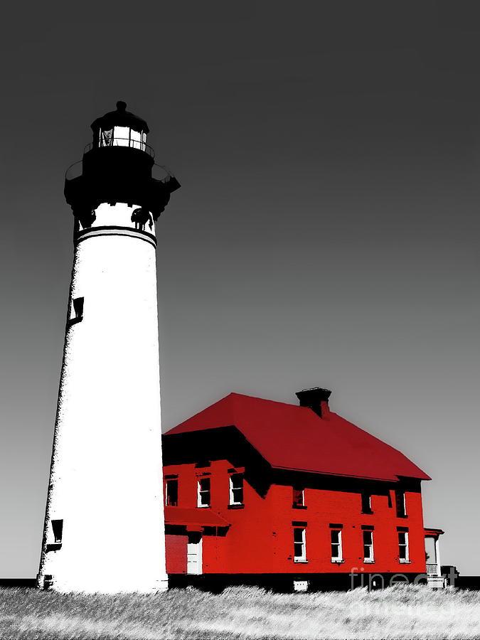 Building Photograph - Au Sable Point Light Sc by Tim Richards