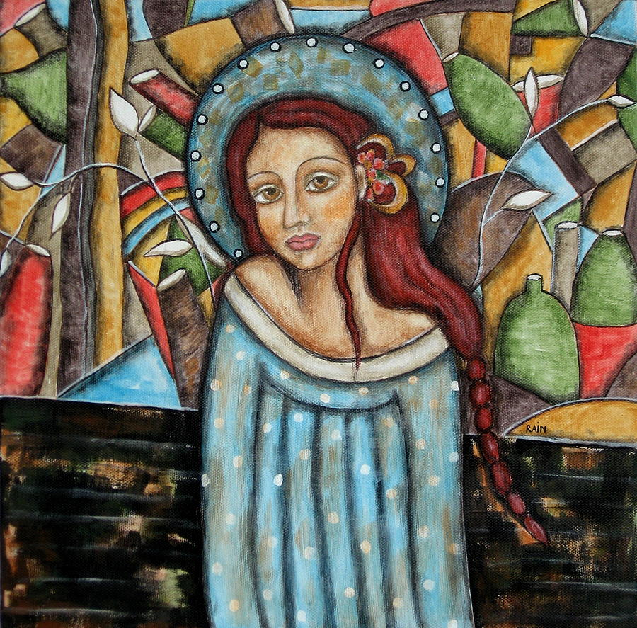 Paintings Painting - Aubrey by Rain Ririn