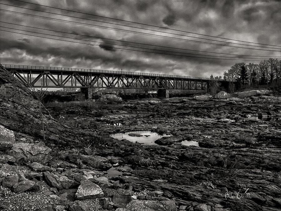 Train Photograph - Auburn Lewiston Railway Bridge by Bob Orsillo