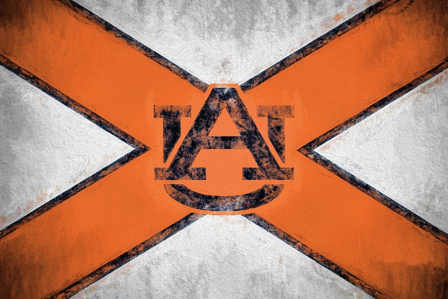 Alabama Flag Digital Art - Auburn State Flag by JC Findley