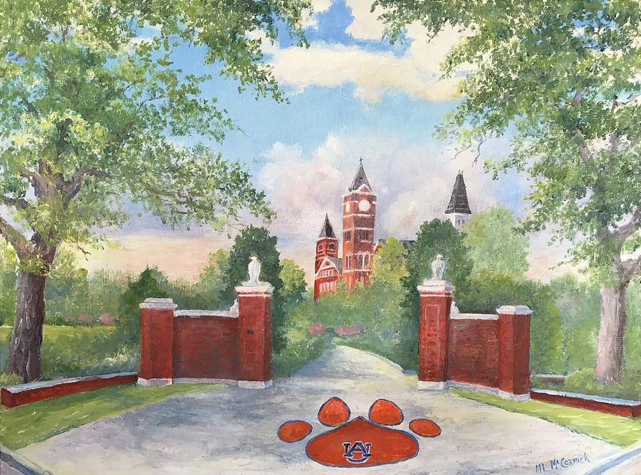 Auburn Painting - Auburn - Toomers Corner by ML McCormick