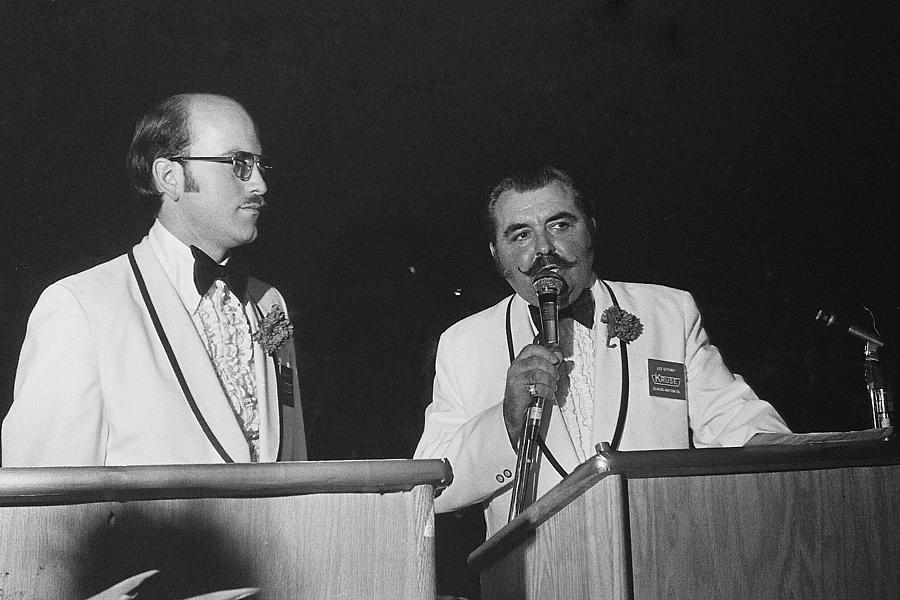 Auctioneer Dennis Kruse And Leo Gephart Scottsdale Arizona 1973-2016 Photograph by David Lee Guss