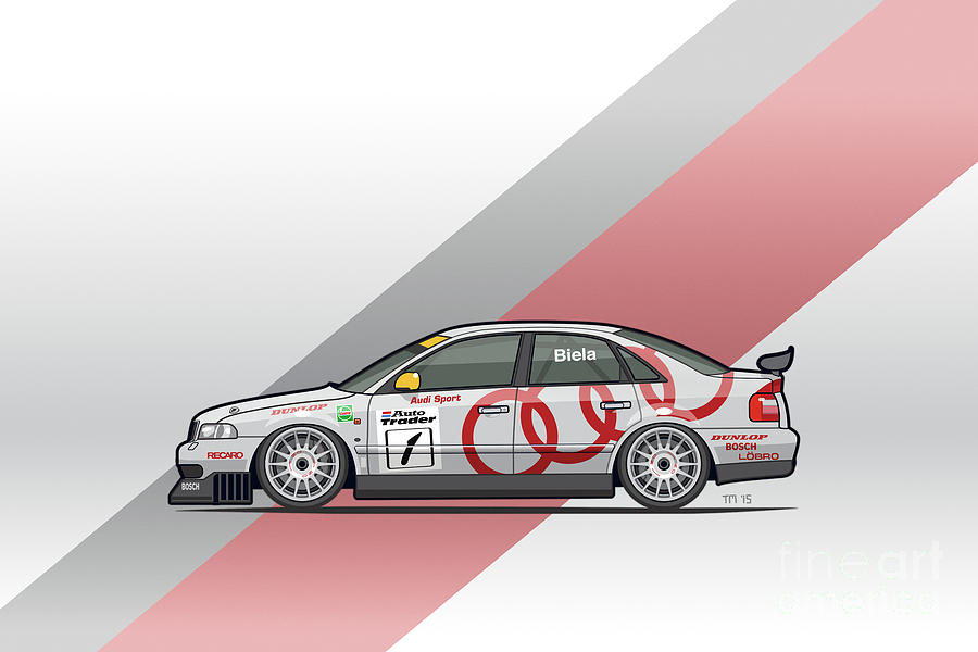 Car Mixed Media   Audi A4 Quattro B5 Btcc Super Touring By Monkey Crisis On  Mars