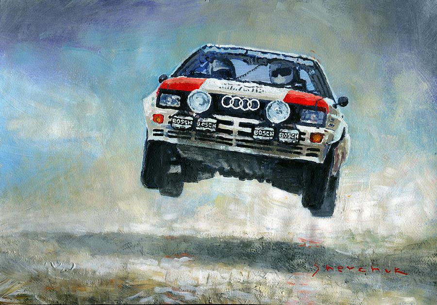 Acrilic Painting - Audi Quattro Gr.4 1982 by Yuriy Shevchuk