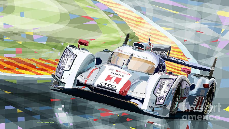 Audi R18 E Tron Quattro Digital Art By Yuriy Shevchuk