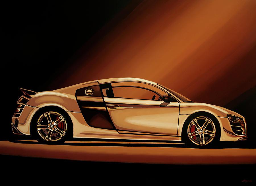 Audi R8 2007 Painting Painting by Paul Meijering