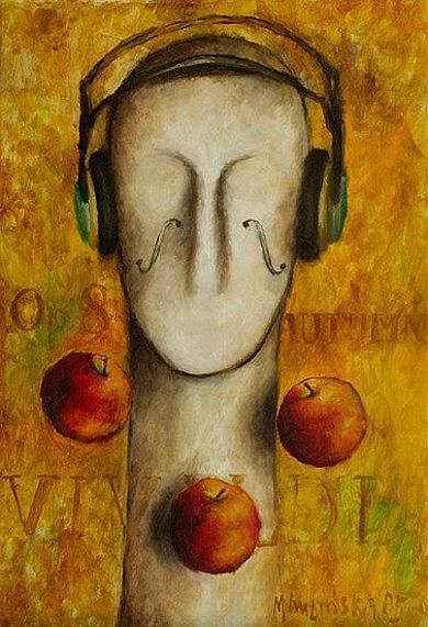 Apple Painting - Audiofil by Magda Guzinska