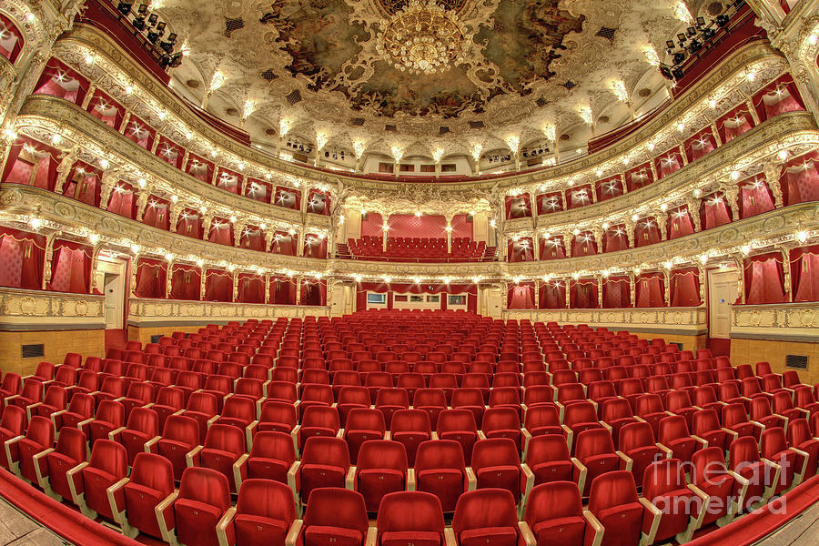 Interior Photograph - Auditorium Of The Great Theatre - Opera by Michal Boubin
