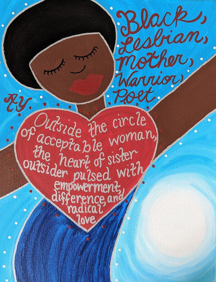 Holy Painting - Audre Lorde by Angela Yarber