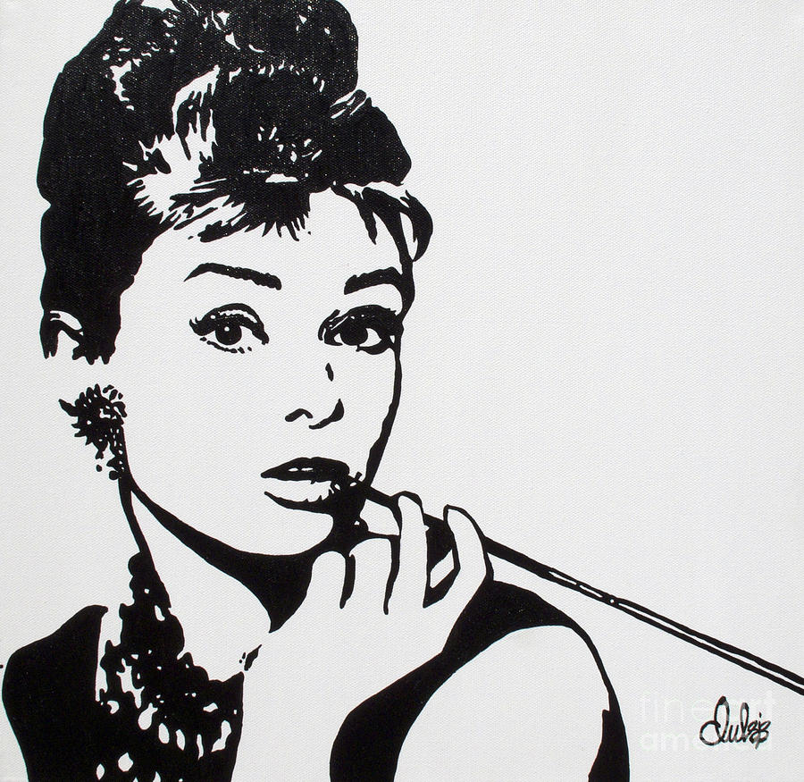 Audrey Painting by Christine Paint it Black