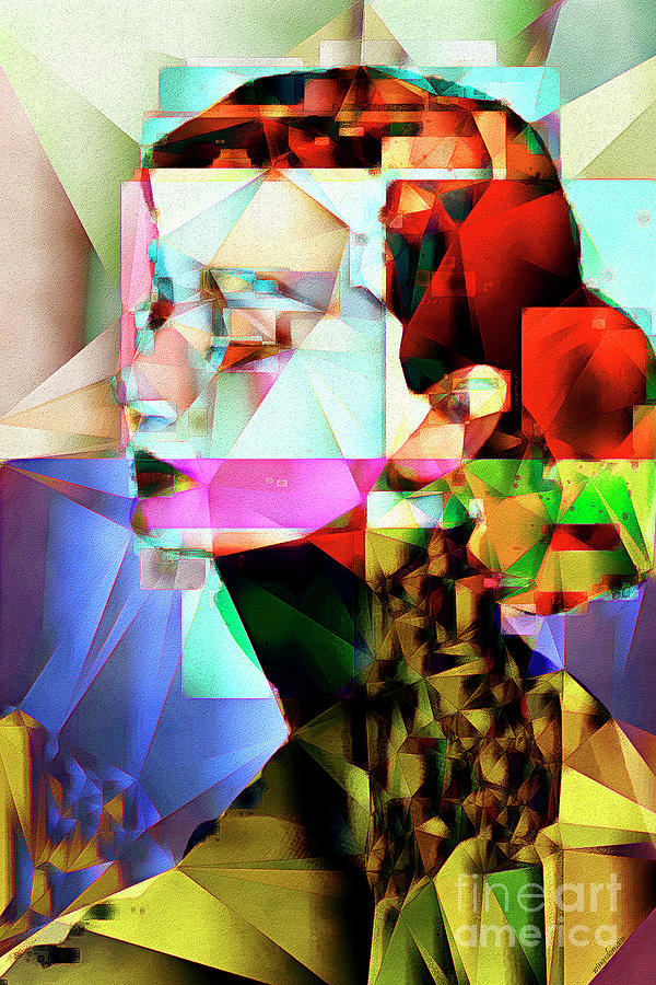 Audrey Hepburn in Abstract Cubism 20170329 by Wingsdomain Art and Photography