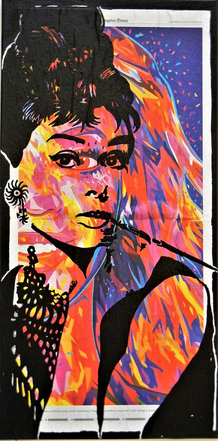 Audrey Hepburn Mixed Media - Audrey Hepburn by Kruti Shah