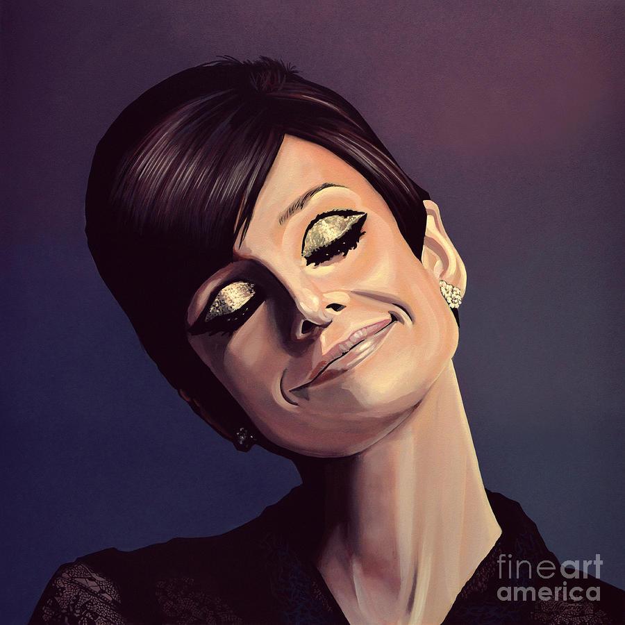 Audrey Hepburn Painting - Audrey Hepburn Painting by Paul Meijering