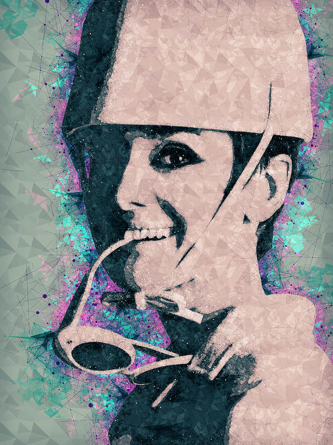 Audrey Hepburn Portrait Mixed Media