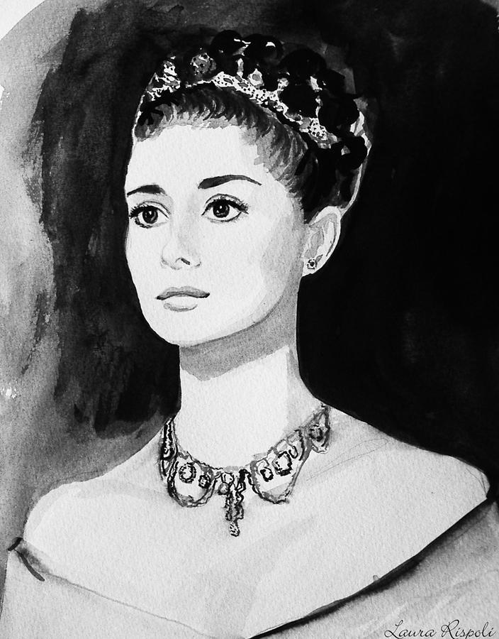 Audrey Hepburn Painting - Audrey by Laura Rispoli