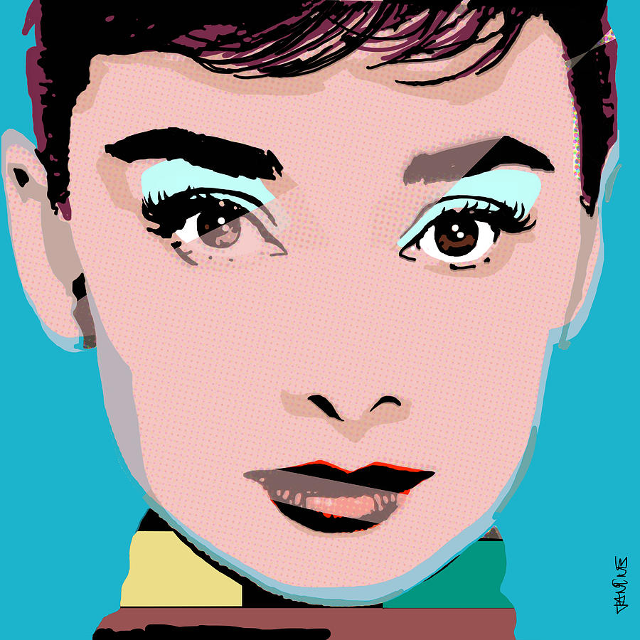 Audrey Pop Painting by Janine Hoffman