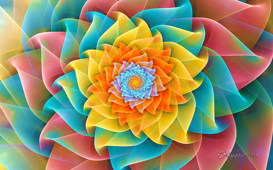 Auger Flower Spiral by Peggi Wolfe