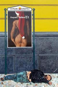 Tramp Painting - Auguri Di Natale by Silvano Battimiello