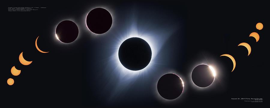 Idaho Photograph - August 21, 2017 Eclipse by David Halter