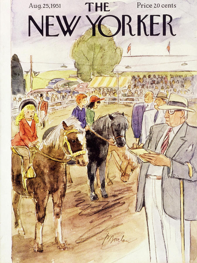 New Yorker August 25 1951 Painting by Perry Barlow