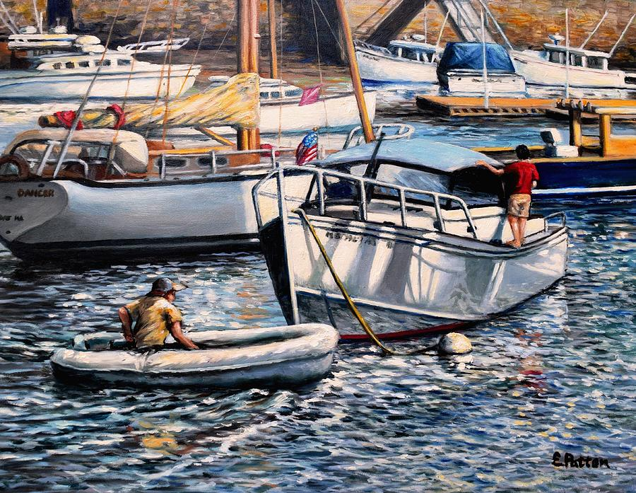Boats Painting - August Afternoon Rocky Neck by Eileen Patten Oliver