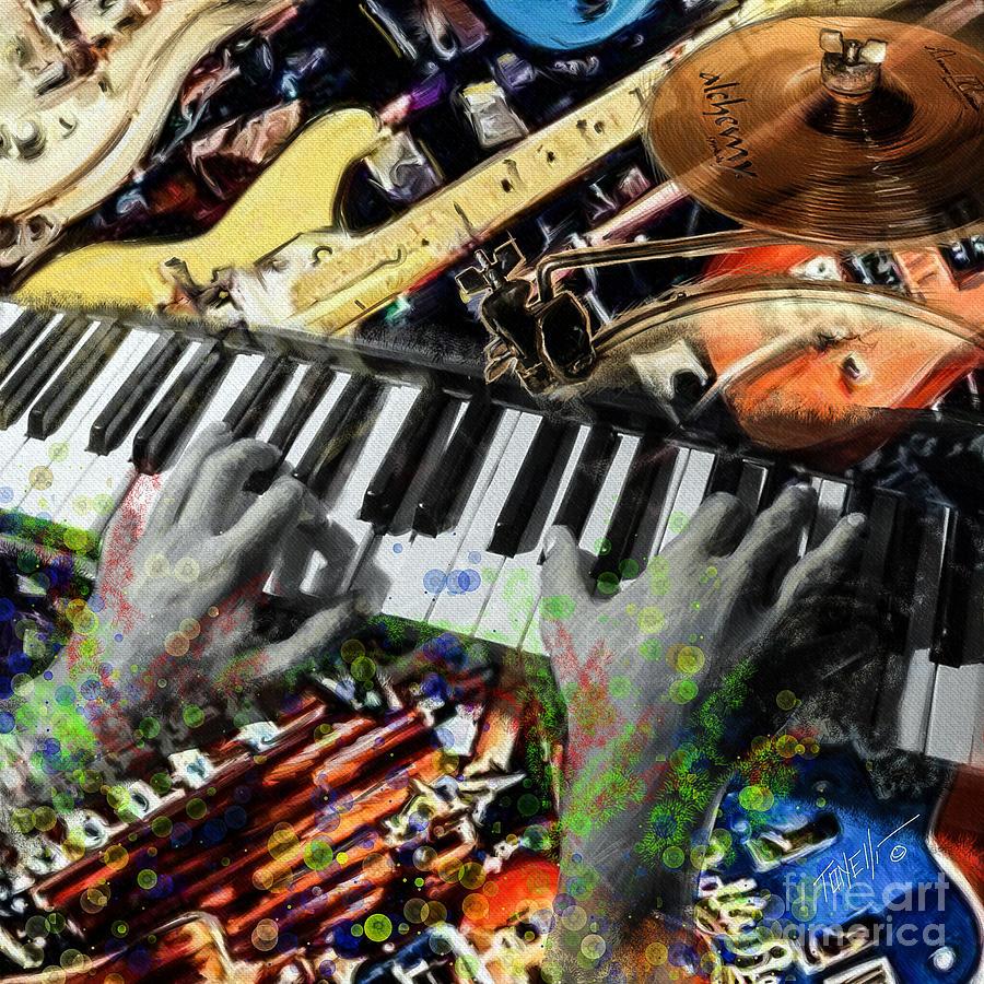 Instrumental Musicians Mixed Media