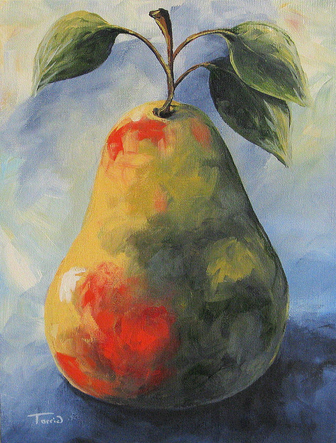 Pear Painting - August Pear by Torrie Smiley