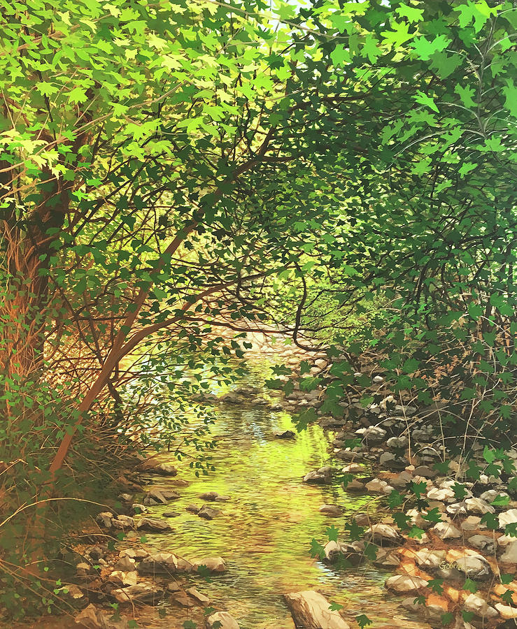 Landscape Painting - August Shade by David Bottini