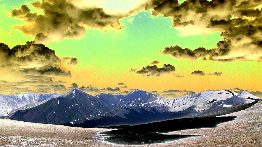 Mountains Digital Art - August Sky by Peter  McIntosh