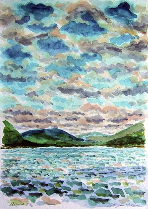Hudson Print - August Sky by Ralph Papa