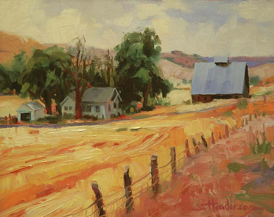 Country Painting - August by Steve Henderson