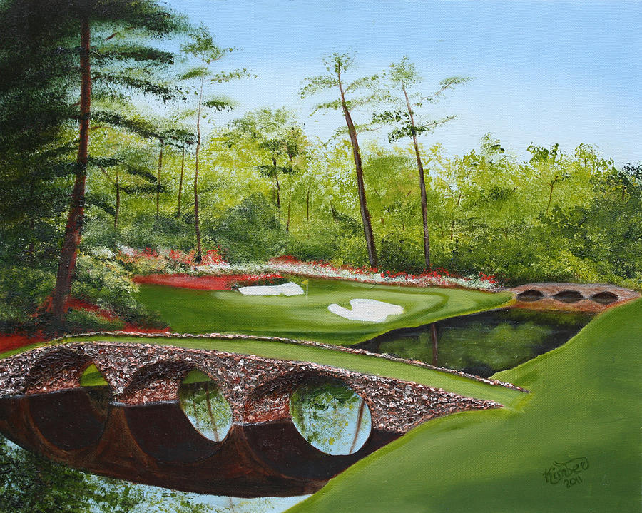 Augusta Golf Course Painting - Augusta Golf Course by Kimber  Butler