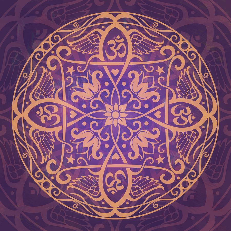 Mandala Digital Art - Aum Awakening Mandala by Cristina McAllister