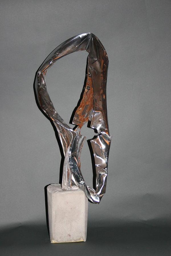 Steel Sculpture Sculpture - Auroa Borealis by Richard Heffron