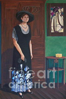 Portrait Painting - Aurora And Armoire by Darlene Boyd