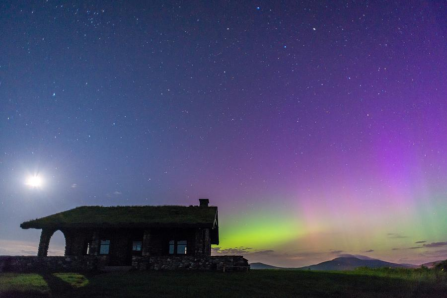Aurora And Moon From Beech Hill Photograph by Tim Sullivan