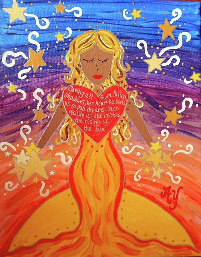 Holy Painting - Aurora by Angela Yarber