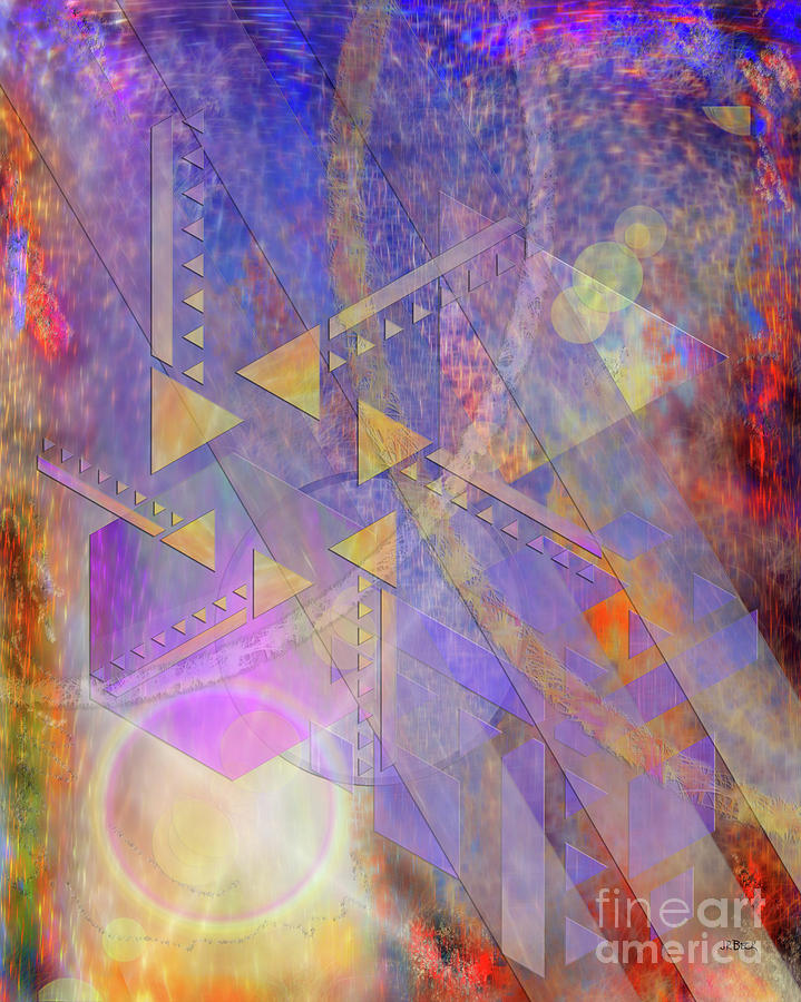 Abstract Digital Art - Aurora Aperture by John Beck