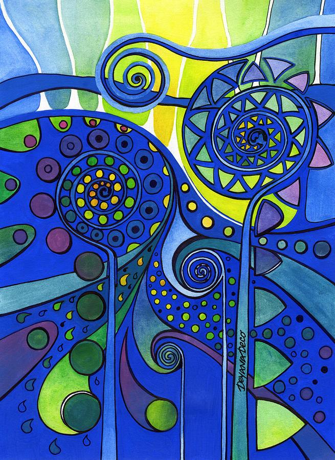 Artwork Painting - Aurora Borealis by Deyana Deco