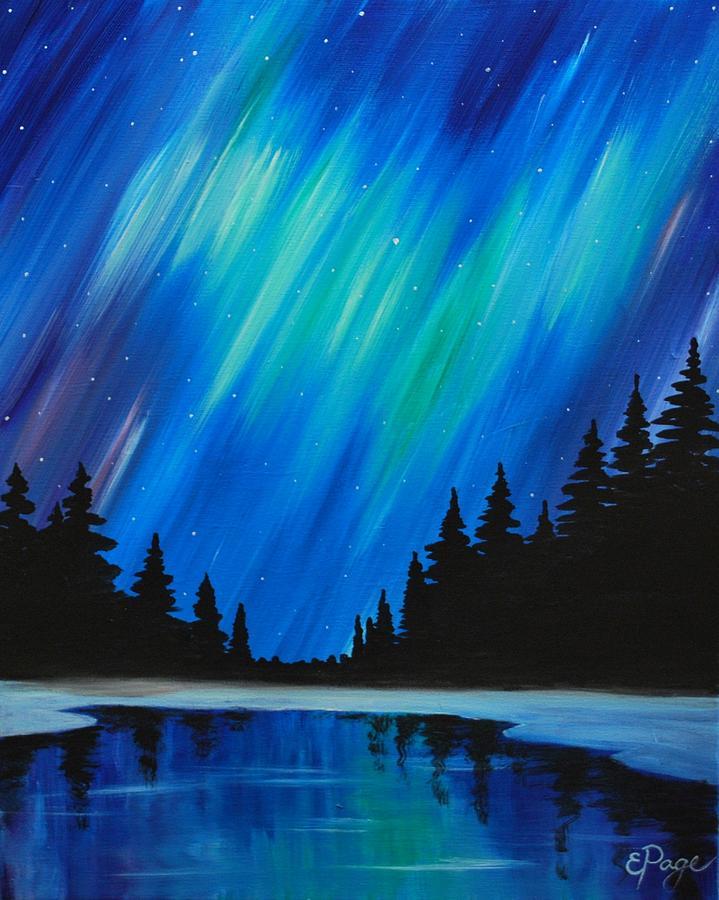 Aurora Borealis Painting - Aurora Borealis by Emily Page