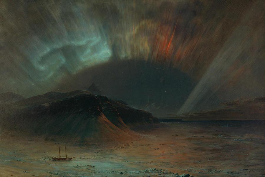 Frederic Edwin Church Painting - Aurora Borealis by Frederic Edwin Church