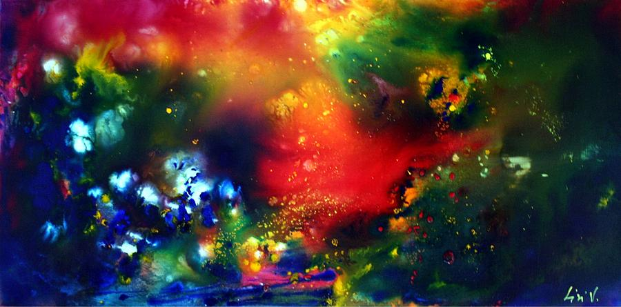 Abstract Painting - Aurora Borealis  by Luiza Vizoli