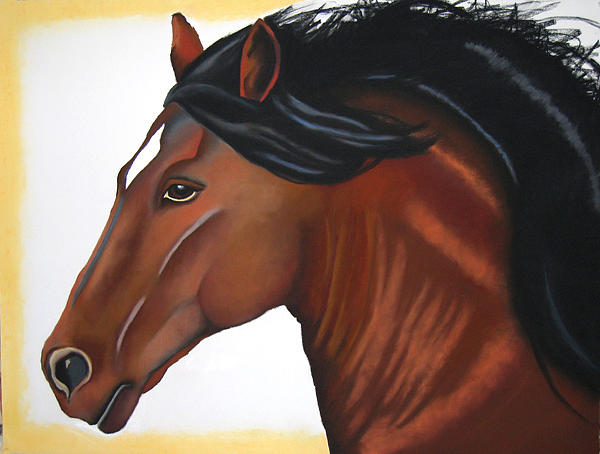 Horse Painting - Aurora by Brenda Wolf